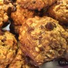 Dairy Free Salted Dark Chocolate Oatmeal Cookies