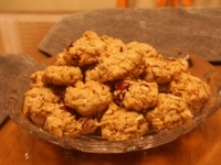 Cran-Almond Oatmeal Cookies
