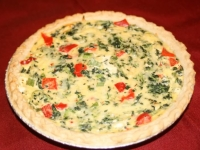 Spinach and Red Pepper Quiche