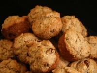 Whole Grain Cran-Banana Muffins