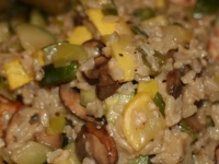 Quick and Dirty Sort of Risotto with Summer Veggies