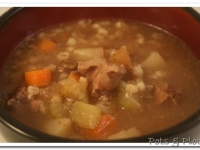Thoughtless Thursday: Beef Barley Porcini Soup