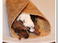 Thoughtless Thursday: Adobo Beef Burritos