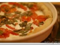 Mozzarella, Tomato, Basil Tart