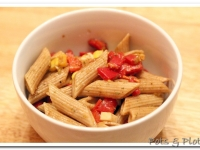 Roasted Red Pepper and Corn Pasta Salad