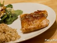 Orange-Tamari Glazed Salmon