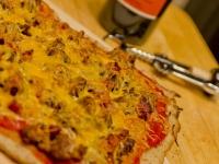 Gluten Free Friday: Sourdough Pizza Crust and Bacon Cheeseburger Sourdough Pizza