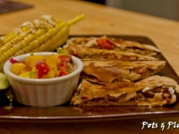 Pulled Pork Quesedillas with Queso Fresco and Mango Salsa