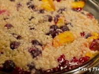 Gluten Free Friday: Blueberry Peach Crumble and a Review of Melt Spread