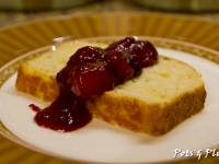 Lemon Yogurt Cake with Freezer Fruit Compote