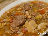 Beef, Bean, and Mushroom Soup