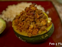 Maple Sausage Stuffed Acorn Squash