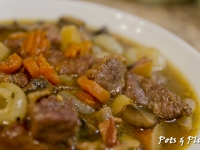 Beef Stew With Mushrooms and Bacon