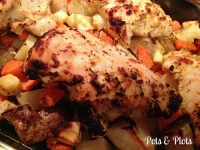 Lemon Rosemary Garlic Chicken and Roasted Veggies