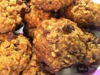 Dairy Free Salted Dark Chocolate Oatmeal Cookies